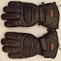 Harley Davidson Heated Gloves 12 Volt W/y Adapter Cord Small Photo