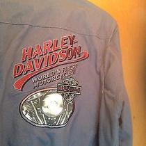 Harley-Davidson Heavy Cotton M Bluish Grey Baseball Style Jacket. Rare..unique Photo