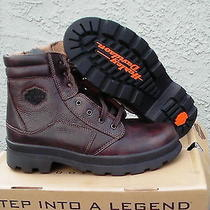 Harley Davidson Men Boots Pilot Lace Up  Size 13 Us New With Box Browns Photo
