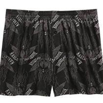 Harley-Davidson Men's Allover Print Skull Boxer Shorts  97672-16vm  Size Xl Photo