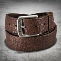Harley-Davidson Men's Leather Belt Crackled / Brown 97697-16vm/3800 Size 38 Photo