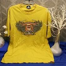 Harley-Davidson Men's Yellow Corpus Christie T-Shirt Size X-Large Moto Free Ship Photo