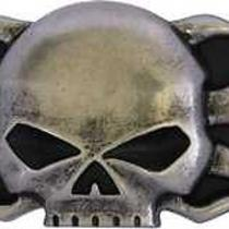 Harley-Davidson Mens Belt Buckle Skull Flame Antiqued Nickel Hdmbu10366 Photo