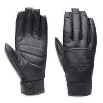 Harley-Davidson Mens Valve Full-Finger Leather Gloves Black 98325-15vm (X-Large) Photo