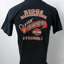 Harley Davidson Motorcycles Biggs San Marcos Ca Black T-Shirt Small Photo