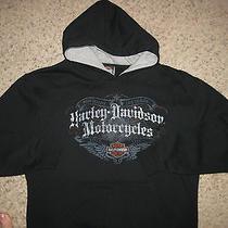 Harley-Davidson Motorcycles Devil Mountain Hooded Sweatshirt Hoodie Black M Bike Photo