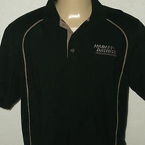 Harley-Davidson Motorcycles Gary Bang Atascadero Ca. Black Polo Shirt Men's Xl Photo