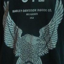 Harley Davidson Motorcycles Genuine Refinery Sealed Oil Black T-Shirt Large Photo