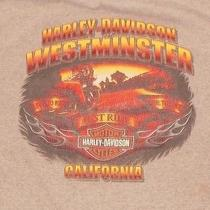 Harley Davidson Motorcycles Gray Westminster California Sunset Shirt Xl  Photo