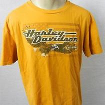 Harley Davidson Motorcycles High Country Colorado Yellow T-Shirt Large Photo