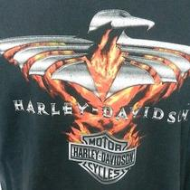 Harley Davidson Motorcycles Iron Eagle San Diego Black T-Shirt Large Photo
