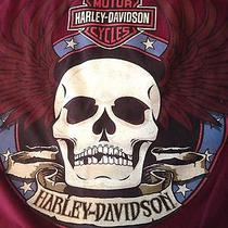 Harley Davidson Motorcycles Las Vegas T Shirt Skull Wings Euc Burgundy Usa Med Photo