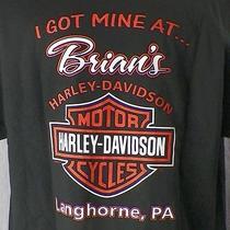 Harley Davidson Motorcycles Owner Large T-Shirt Brian's Longhorne Pa Photo