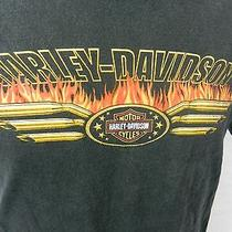 Harley Davidson Motorcycles Quaid Temecula Ca  Black T-Shirt Medium Photo