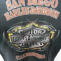 Harley Davidson Motorcycles San Diego Ca Black T-Shirt Medium Photo