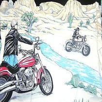 Harley-Davidson Motorcycles Shirt High Desert Biker Vtg Dress Cactus Rare Mens M Photo