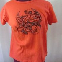 Harley Davidson Museum Orange T-Shirt Women's Xl Live to Ride Ride to Live  Photo