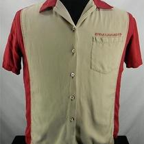 Harley Davidson Red & Tan Women's Front Button Shirt Pocket Tori Richard Size M Photo