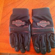Harley Davidson Touchscreen Technology Full Finger Leather Gloves Size M Photo