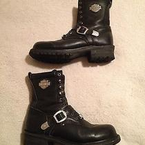 Harley Davidson Vintage 1996 Black Leather Motorcycle Boots Men's Sz 11 Lowrider Photo