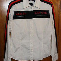 Harley Davidson Women's Button Up Top Size Medium - Free Shipping Photo
