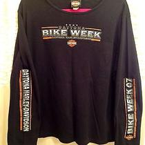 Harley Davidson Women's Longsleeved Shirt 2xl Daytona Bike Week 2007 Photo