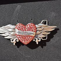 Harley-Davidson Women's Red Crystal Heart Belt Buckle 97735-12vw New in Box Mib Photo