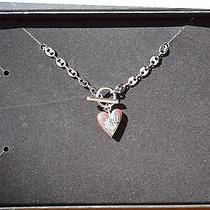Harley-Davidson Women's Red Crystal Heart Necklace 97733-12vw New in Box Bling Photo