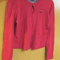 Harley Davidson Women's Shirt Top Red Size L Long Sleeve Northwest Harley Oly Wa Photo