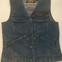 Harley Davidson Women's Size Small Denim Cotton Vest  New Without Tags Photo