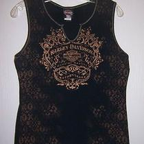 Harley Davidson Women's Tank Top Sz L Very Rare Unique Design Made in u.s.a Photo