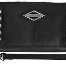 Harley Davidson Womens Ball & Chain Zip Around Clutch Wallet Bc6172l-Black Photo