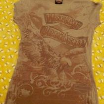 Harley Davidson Womens Brownish Gray T-Shirt Top Size Small. Really Nice Shirt Photo