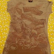 Harley Davidson Womens Brownish Gray T-Shirt Top Size Small. Really Nice Shirt Photo