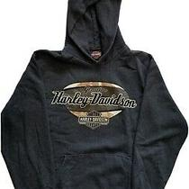 Harley Davidson Womens Hooded Sweatshirt Size Small Hoodie Pull Over Pre Owned Photo