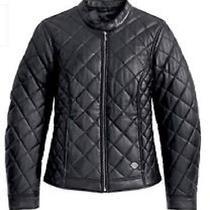 Harley Davidson Womens Vogue Black Quilted Soft Lamb Leather Jacket 97093-12vw Photo