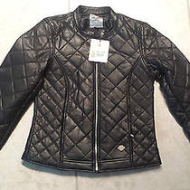 Harley Davidson Womens Vogue Black Quilted Soft Lamb Leather Jacket - Small Photo