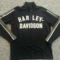 Harley Davidson  Zip Sweatshirt Black Men's Medium Photo