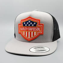 Harley Hat Harley Davidson Vintage Trucker Hat Biker Patch on Mesh Baseball Cap Photo
