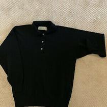 Harrods- Scotland Lamb Wool Black Sweater Size 6 Photo