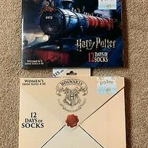 Harry Potter 12 Days of Socks (Hogwart's Express and Hogwart's School) (Qty 2) Photo