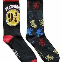 Harry Potter Hogwarts Express Casual Crew Socks 2-Pack 6-12 Photo