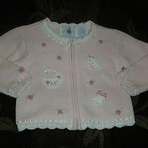 Hartstrings Baby Boutique Embroidered Baby Bottle Rattle Pink Sweater 9m Photo