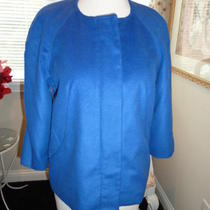 Harve Benard Elements Blue Crop Blazer Jacket Size 4 Photo