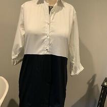 Harvey Faircloth White Black Shirtdress Dress Casual Size 0 Photo