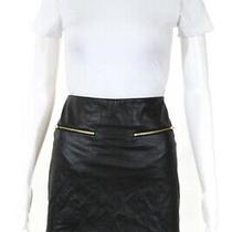 Harvey Faircloth Womens High Rise Faux Leather Mini Skirt Black Size 0 Ll19ll Photo