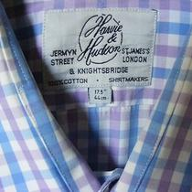 Harvie and Hudson Check French Cuff Dress Shirt- 17 1/2