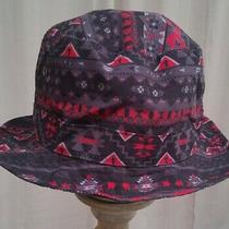 Hat Carbon Elements Bucket Hat Fishing Cap Black Red Gray Tribal Print One Sz Photo