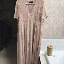 Hatch Maternity Blush Maxi Midi Pink Dress Flutter Sleeve Size 2 M Photo