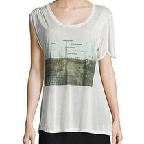 Haute Hippie I Lost Myself  Asymmetrical Printed Tee Top   Size Xs Photo
